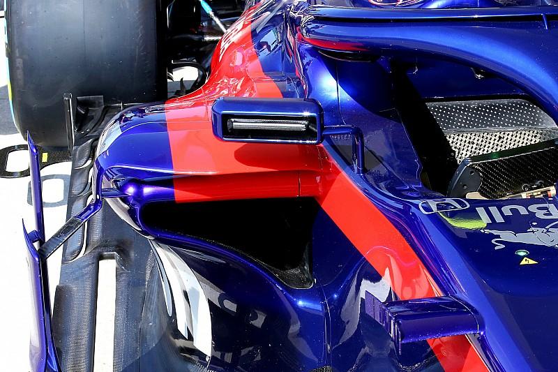 Toro Rosso: la STR13 copia la Ferrari con lo specchietto dotato dei soffiaggi
