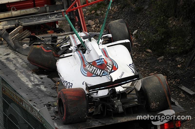 ماسا يُجبر على تغيير هيكل سيارته بعد حادثه في التجارب الحرّة الأولى