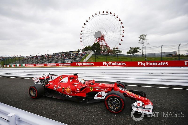 日本大奖赛FP1:维特尔排名榜首,塞恩斯事故引出红旗