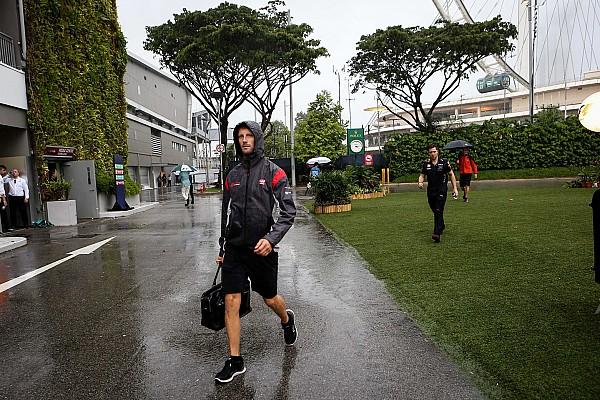 غروجان ليس متأكّدًا من إمكانيّة إقامة سباق سنغافورة في أجواء ماطرة