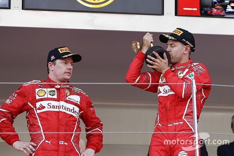 Raikkonen asegura que Vettel no es el número uno en Ferrari