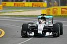 Australian GP: Hamilton stays on top in FP2 as Rosberg crashes