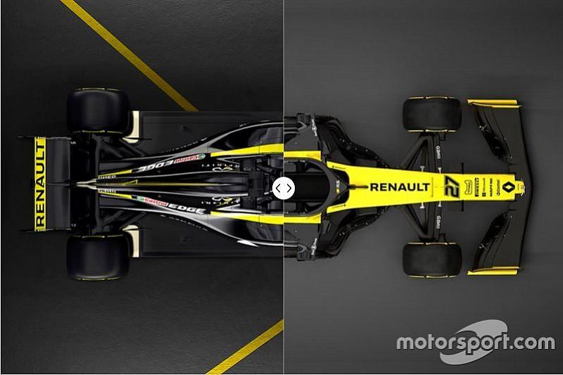 ルノーの新車R.S.19を、昨年型R.S.18とクリック&スライド画像で徹底比較
