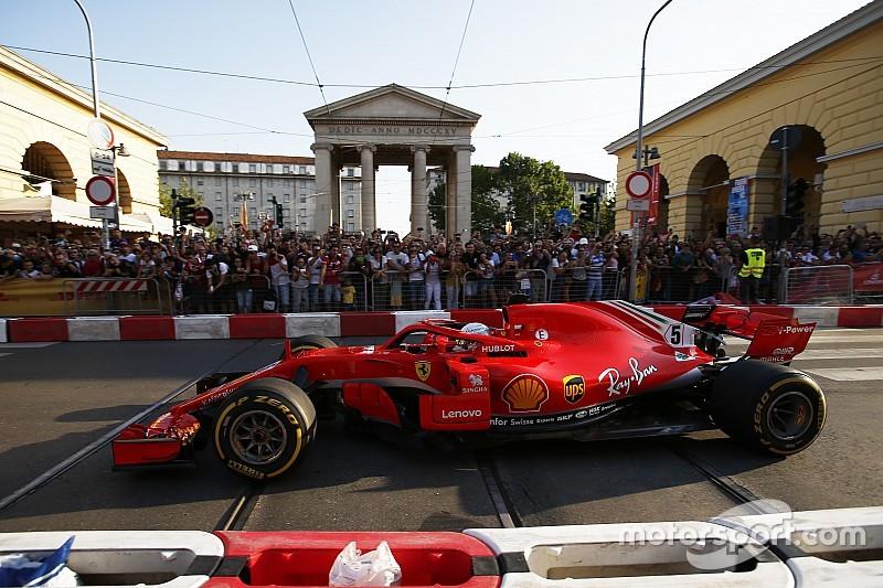Vettel dice que chocó en Milán por usar el volante de Raikkonen