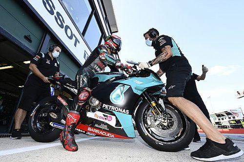 MotoGPカタルニアFP1:ヤマハ勢好調、クアルタラロ首位。ドヴィツィオーゾ2番手