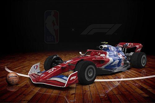 F1 faz parceria com NBA e divulga pinturas do carro de 2022 inspiradas nos times da liga