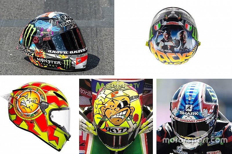 Fotogallery: i caschi celebrativi usati dai piloti di MotoGP nel 2018