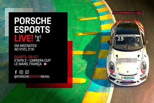 Assista à segunda etapa da Porsche Esports Carrera Cup em Le Mans