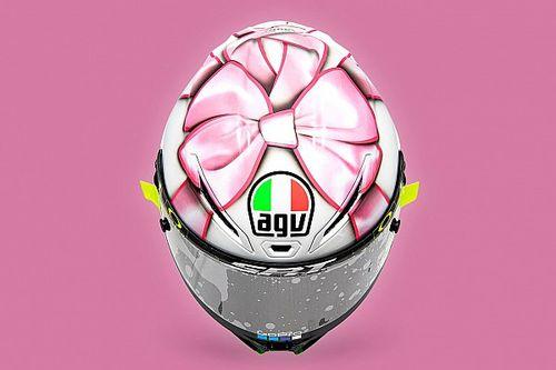 Casque spécial : Rossi met à l'honneur sa future paternité