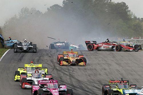 Galería: el accidente múltiple de la carrera de IndyCar en Barber