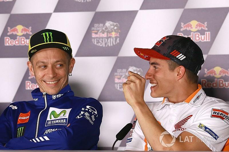 """Rossi: """"Marquez non cade più? E' impressionante, ma la Honda..."""""""