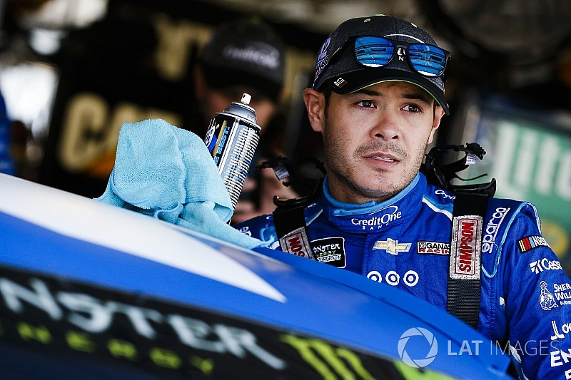 Larson leads Saturday morning practice at Kansas