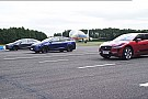 Automotive Watch Jaguar I-Pace race Tesla Model X 100D & P100D