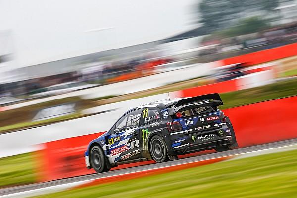 World Rallycross Qualifying report Silverstone World RX: Solberg leads Ekstrom after Saturday