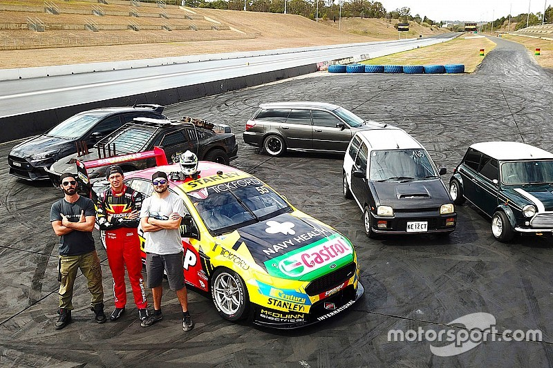 Video: Supercars star Mostert drag races modified street cars