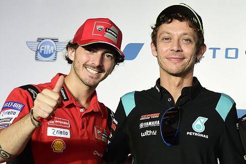 """Bagnaia: """"Rossi me anima a ser el mejor"""""""