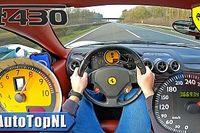 Nézni is ijesztő, ahogyan ez a Ferrari F430 310 km/órával száguld (videó)