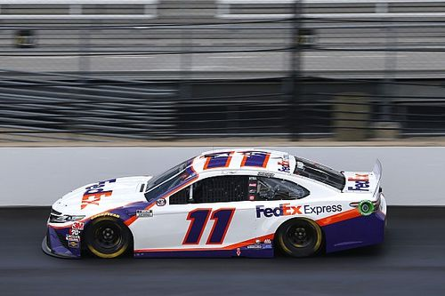 "Hamlin on Brickyard tire issue: ""You saw the end result"""