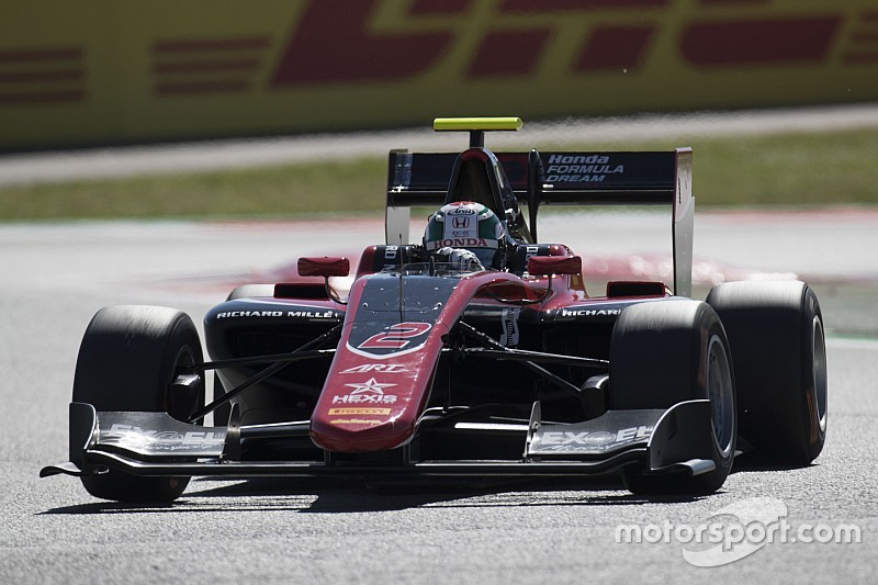 Barcelona GP3: Fukuzumi wins opener after Aitken failure