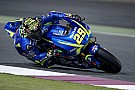 Iannone trying to imitate Vinales' riding style on Suzuki