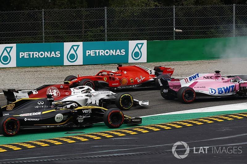 Formel 1 Monza: Vettel und Hamilton kollidieren in Runde 1!