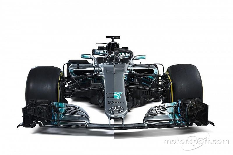 Karşılaştırma: Mercedes W08 ve W09