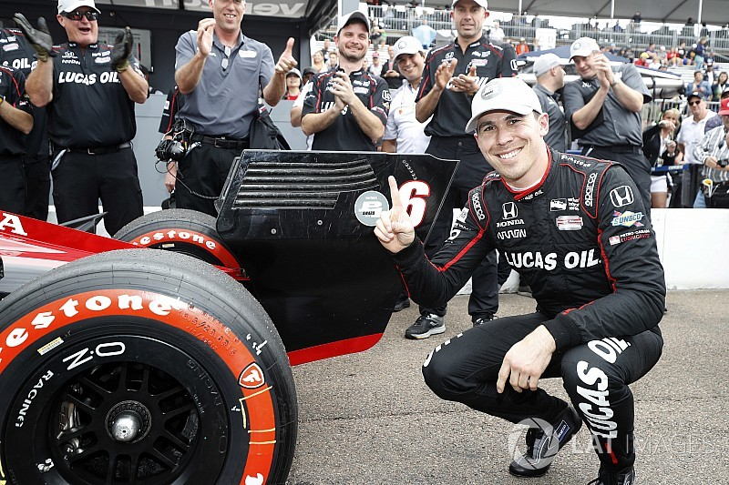 St. Pete IndyCar: Wickens grabs amazing debut pole in damp session