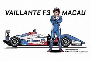 F3 Ultime notizie Sacha Fenestraz correrà a Macao con la livrea del team Vaillante