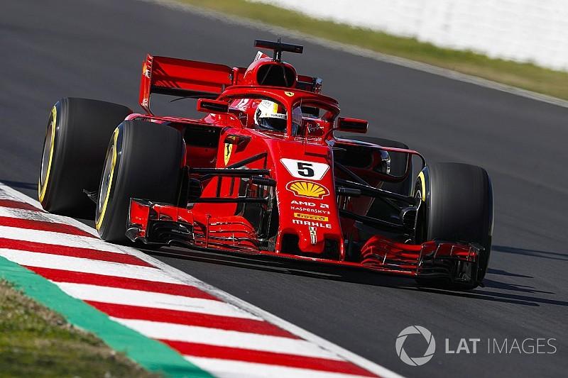 2. Barcelona testleri 1. gün: Vettel lider kapattı