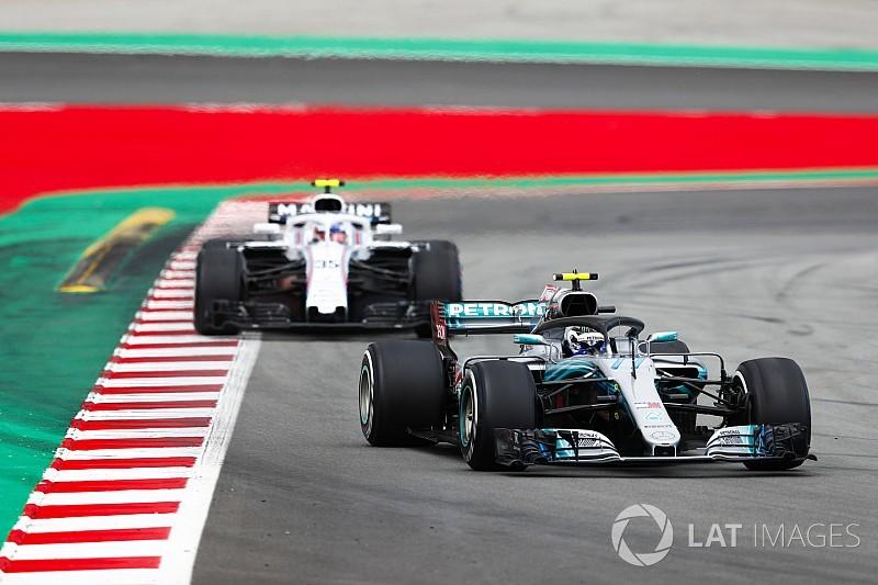 """Mercedes: """"Bottas bijna in grote problemen tijdens Spaanse GP"""""""