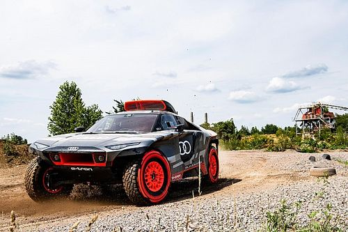 Audi reveals electric-powered Dakar challenger