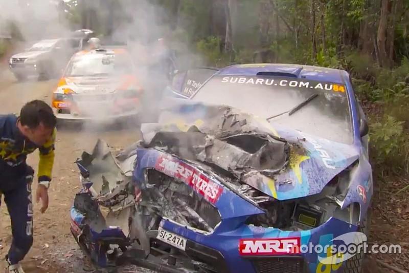 Molly Taylor escapes nasty Rally Australia crash