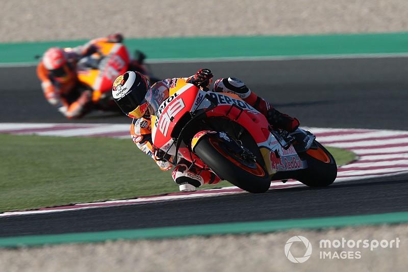 Marquez surprised by Lorenzo on Honda practice debut