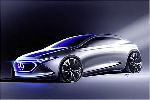 Automotive News Erste Bilder der elektrischen A-Klasse von Mercedes