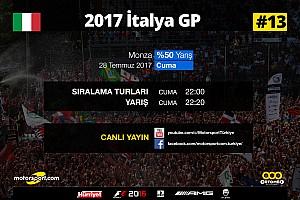 FORMULA 1 LİGİ Son dakika 2017 İtalya GP Sanal Turnuva: Canlı Yayın
