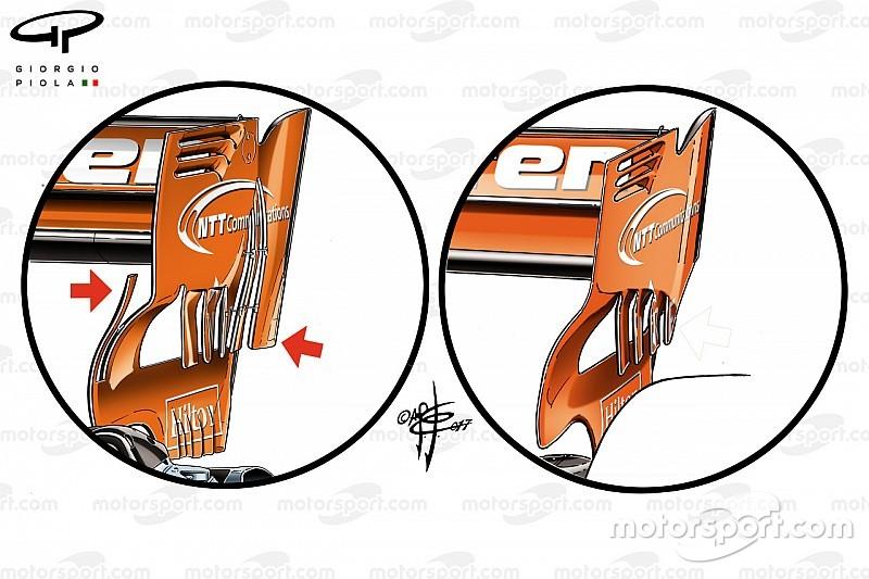 Analisis teknis: McLaren cari tambahan downforce