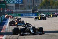 F1ロシア決勝:ボッタス開幕戦以来の優勝! フェルスタッペン2位、ハミルトンはペナルティで後退