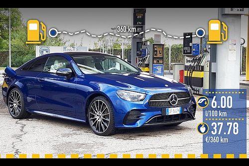 Mercedes Classe E Coupé mild hybrid, la prova dei consumi reali