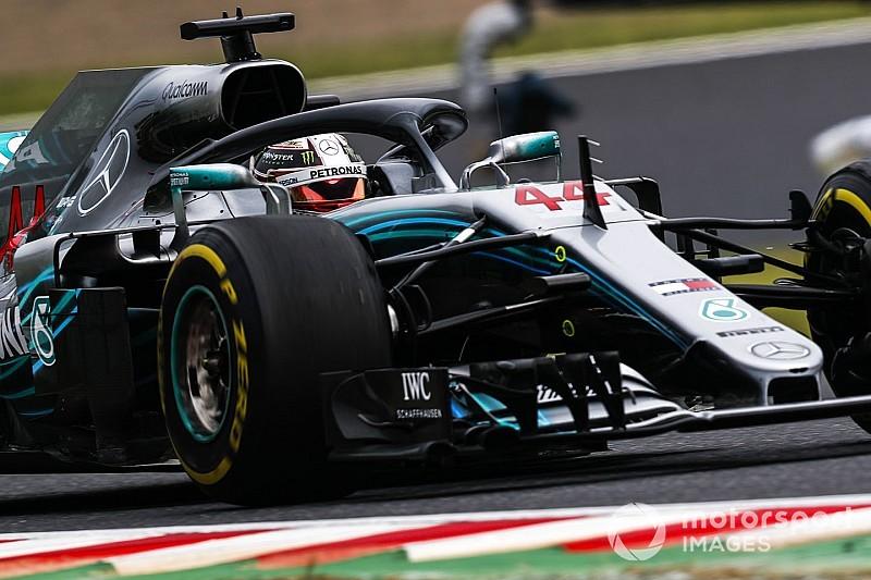 FP3 GP Jepang: Hamilton sapu bersih latihan, Hulkenberg kecelakaan