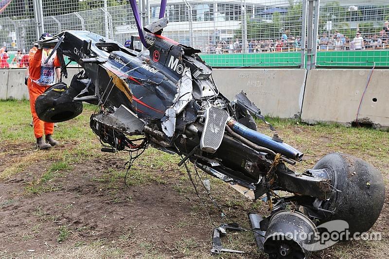 """Alonso """"lucky"""" to escape terrifying crash"""