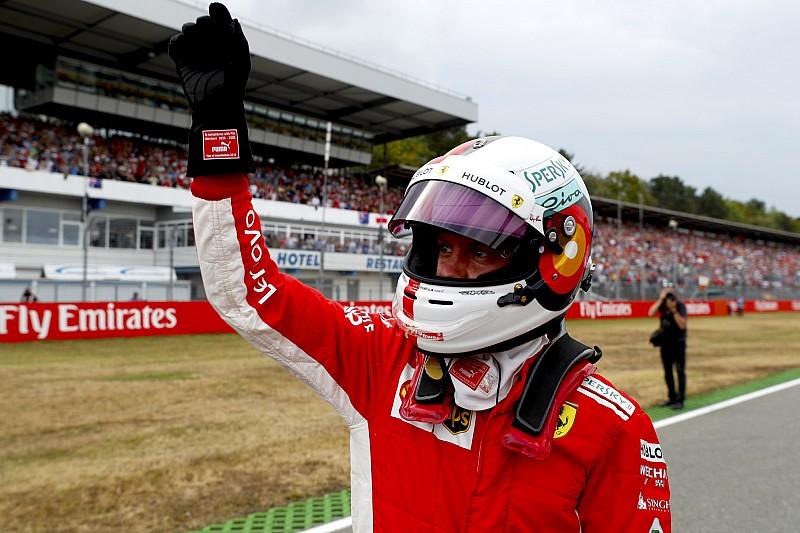 Vettel raggiante: