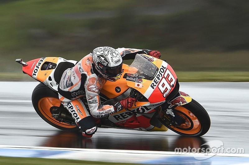 Australian Motogp Marquez Fastest Big Names Dumped Into Q1