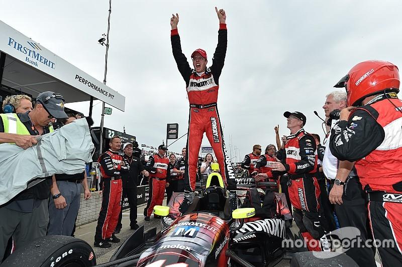 Indycar Detroit: Bourdais fopt Penske en wint opnieuw in Detroit