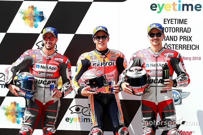La parrilla de inicio del GP de MotoGP de Austria