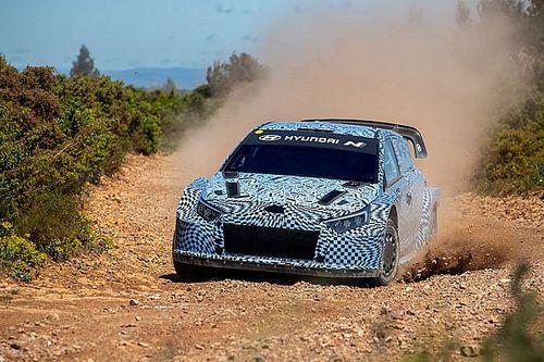 Hyundai первой показала фото машины WRC нового поколения