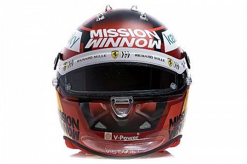Fotos: los cascos de Sainz y Leclerc para la F1 2021