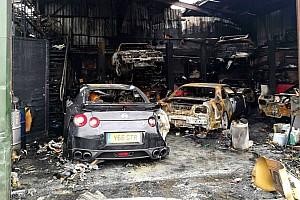 OTOMOBİL Son dakika Nissan GT-R mağazası tüm araçlarla birlikte yandı