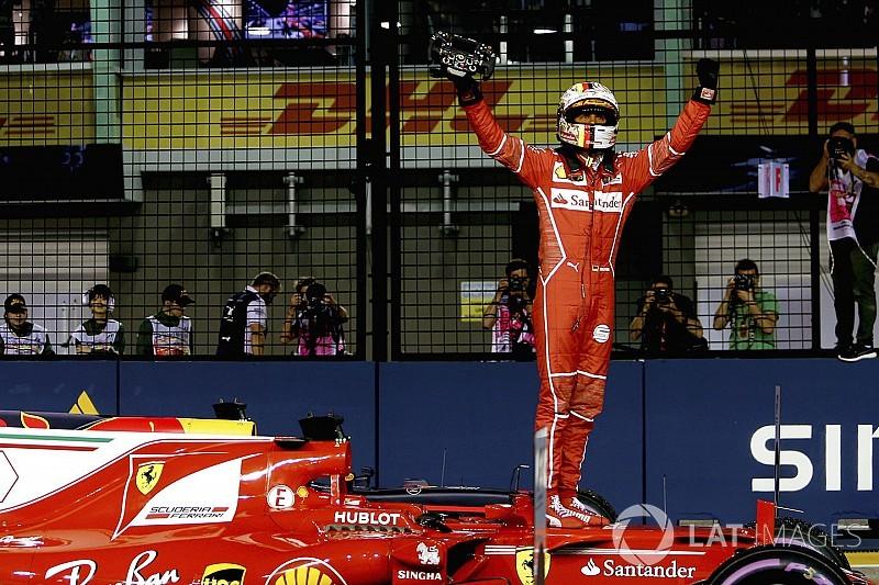 Nem sok híja volt, hogy Vettel összetörje magát
