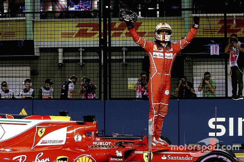 GP Singapura: Vettel menangi duel pole, Hamilton P5