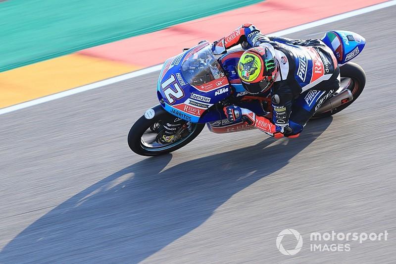 Pioggia di penalità sulla griglia della Moto3 ad Aragon: arretrano 8 italiani, tra cui Bezzecchi